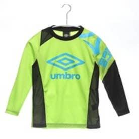 アンブロ UMBRO ジュニアサッカー長袖シャツ  UBA7545JL グリーン 8305 (イエローグリーン)