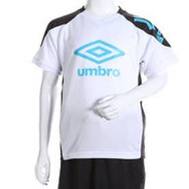 アンブロ UMBRO ジュニアサッカープラクティスシャツ JR プラクティス S/S シャツ UBS7631J  (ホワイト×ブラック×ターコ)