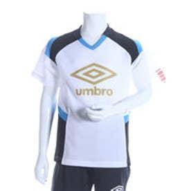 アンブロ UMBRO ジュニアサッカープラクティスシャツ JR プラクティスシャツ UBS7632J  (ホワイト×ブラック)
