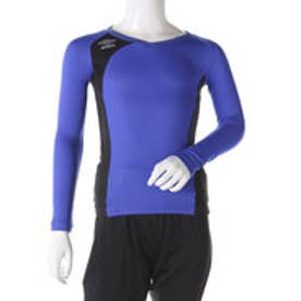 アンブロ UMBRO ジュニア サッカー/フットサル 長袖インナーシャツ Jr. FLEX GEAR ドライL/Sシャツ UBA9645J (ブルー)