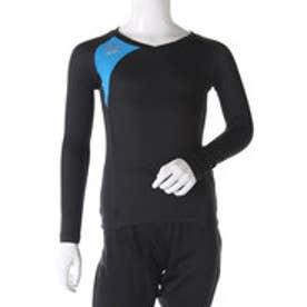 アンブロ UMBRO ジュニア サッカー/フットサル 長袖インナーシャツ Jr. FLEX GEAR ドライL/Sシャツ UBA9645J (ブラック)