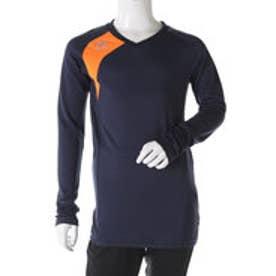 アンブロ UMBRO ジュニア サッカー/フットサル 長袖インナーシャツ Jr. FLEX GEAR ドライL/Sシャツ UBA9645J (ネイビー)