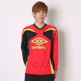 アンブロ UMBRO サッカープラクティス長袖シャツ  UM UBA7307SDLモ  (レッド×ブラック)