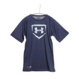 アンダーアーマー UNDER ARMOUR ジュニア野球Tシャツ UAビッグロゴソリッドベースボールシャツ #BBB2207 (ミッドナイトネイビー)