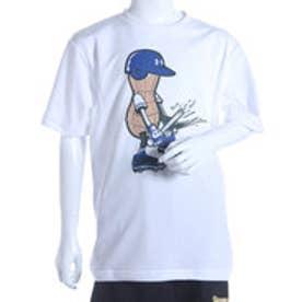 アンダーアーマー UNDER ARMOUR ジュニア野球Tシャツ UAテックHG SS<PEANUT> #BBB2363 (ホワイト)