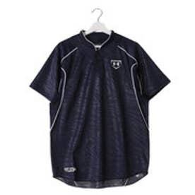 アンダーアーマー UNDER ARMOUR 野球Tシャツ UAスタンドカラーベースボールシャツ? #MBB2176 (ミッドナイトネイビー)