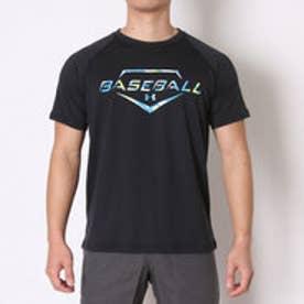 アンダーアーマー UNDER ARMOUR 野球Tシャツ UAテックHG SS<CAMO> #MBB2300 (ブラック)