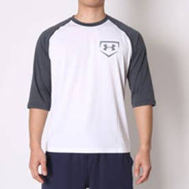 アンダーアーマー UNDER ARMOUR 野球Tシャツ UA 9ストロング3/4スリーブ #MBB2193 (ステルスグレイ)
