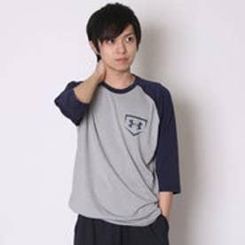 アンダーアーマー UNDER ARMOUR 野球Tシャツ UA 9ストロング3/4スリーブ #MBB2193 (トゥルーヘザー×ミッドナイトネイビー)