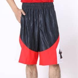 アンダーアーマー UNDER ARMOUR バスケットボールプラクティスパンツ UAモーマニーショーツ #MBK1460  (ブラック×ロケットレッド)