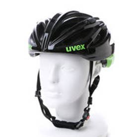 ウベックス UVEX アダルトヘルメット boss race 4102290417  (ブラック×グリーン)