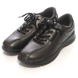 ロコンド 靴とファッションの通販サイトウォークランドWalkLandウォーキングシューズKF790021305(ブラック)