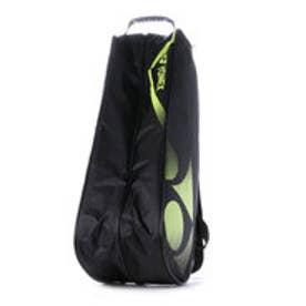 ヨネックス YONEX バドミントンバッグ ラケットバック6(リュック付) BAG1522R (ブラック×ライムグリーン)
