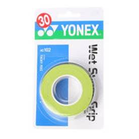 ヨネックス YONEX グリップテープ ウエットスーパーグリップ(3本入) AC102 (シトラスグリーン)