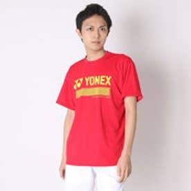 ヨネックス YONEX ユニセックスTシャツ ドライTシャツ 16253Y レッド  (クリスタルレッド)