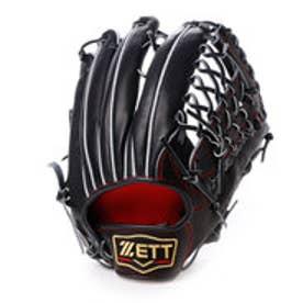 ゼット ZETT 硬式グローブ(右投げ) プロステイタス BPROG37 他 (ブラックXディープオレンジ)