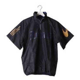 ジームス ZEEMS メンズ 野球 半袖ウインドブレーカー 半袖ピステ BP-57N (ネイビー)