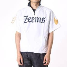ジームス ZEEMS メンズ 野球 半袖ウインドブレーカー 半袖ピステ BP-57W (ホワイト)