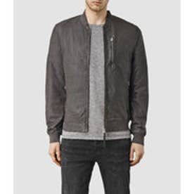 KINO LEATHER BOMBER(ANTHRACITE GREY)