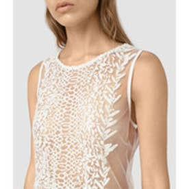 CARIAD EMBROIDERED T(Chalk White)