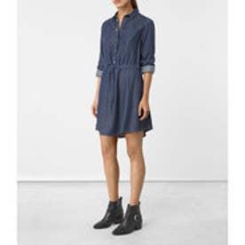 SANKO DENIM DRESS(Indigo Blue)