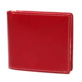 ブリティッシュグリーン BRITISH GREEN レザー2つ折り財布(レッド)
