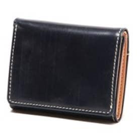 ブリティッシュグリーン BRITISH GREEN レザー胸ポケット財布(ネイビー)