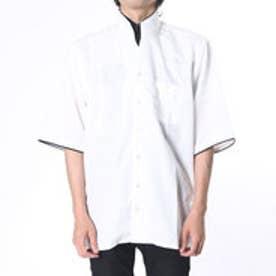 フランコ コレツィオーニ FRANCO COLLEZIONI 二重変化衿5分袖シャツ2枚組 (マルチカラー)