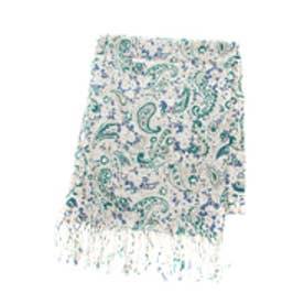 【AZUL by moussy】フラワーペイズリーストール 柄GRN