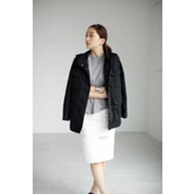 【AZUL by moussy】ストレッチツイルM65ブルゾン BLK