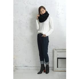 【AZUL by moussy】PEフェイクファーシングルスヌード BLK
