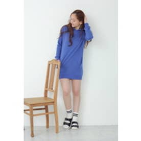 【AZUL by moussy】30/10度甘裏毛フーディ長袖ワンピース NVY