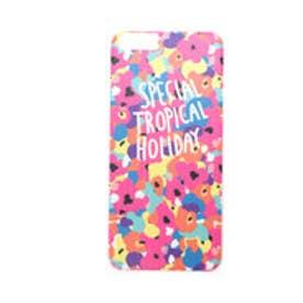 ヒッチハイクマーケット HITCH HIKE MARKET SPECIAL TROPICAL iphoneケース (ピンク)