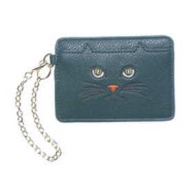 ヒッチハイクマーケット HITCH HIKE MARKET CAT!CAT!CAT! パスケース (ダークグリーン)