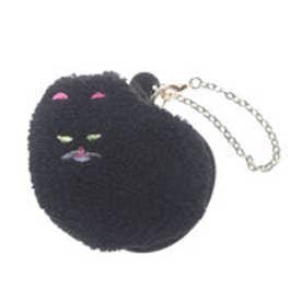 ヒッチハイクマーケット HITCH HIKE MARKET CAT!CAT!CAT! もこもこポーチ (ブラック)