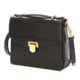 チャールズ アンド キース CHARLES & KEITH WorkHandbagPush-Lock (Black)