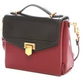 チャールズ アンド キース CHARLES & KEITH WorkHandbagPush-Lock (Burgundy)