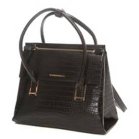 チャールズ アンド キース CHARLES & KEITH WorkHandbagMagnetic (Black)