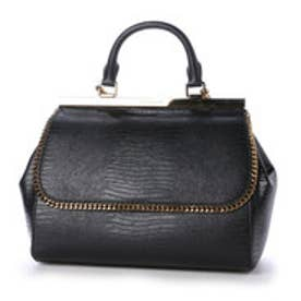 チャールズ&キース CHARLES & KEITH DressyHandbagPush-Lock L (Black)