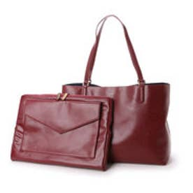 チャールズ & キース CHARLES & KEITH WorkToteZip (Burgundy)