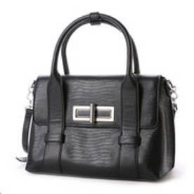 チャールズ & キース CHARLES & KEITH WorkHandbagTurn-Lock (Black)