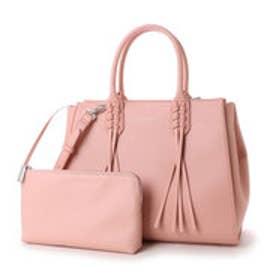 チャールズ & キース CHARLES & KEITH TrendyHandbagZip (Pink)