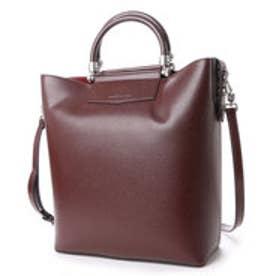 チャールズ & キース CHARLES & KEITH ToteZipDouble with Strap (Burgundy)