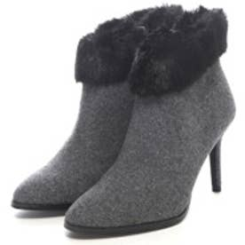 チャールズ アンド キース CHARLES & KEITH BootsCoveredAnkle Boot Heels (Grey)