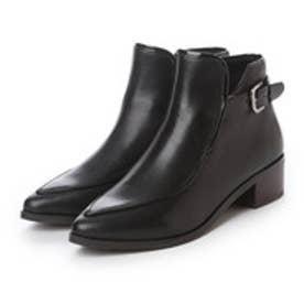 チャールズ アンド キース CHARLES & KEITH BootsCoveredAnkle Boot Flats (Black)