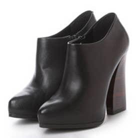 チャールズ アンド キース CHARLES & KEITH BootsPlatform CoveredBootie Heels (Black)