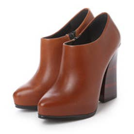 チャールズ アンド キース CHARLES & KEITH BootsPlatform CoveredBootie Heels (Brown)