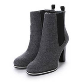 チャールズ アンド キース CHARLES & KEITH Ankle Boot Heels (Grey)