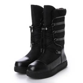 チャールズ アンド キース CHARLES & KEITH Calf Boots Flats (Black)