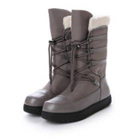 チャールズ アンド キース CHARLES & KEITH Calf Boots Flats (Grey)